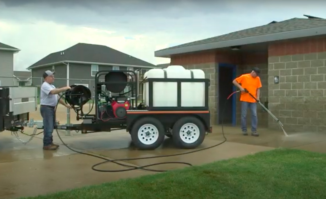 how to use dual axel mitm pressure washer trailer