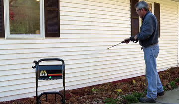 how to clean house siding with a pressure washer